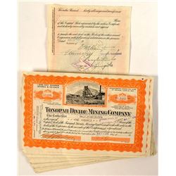 72 Tonopah Divide Mining Company Stock Certificates