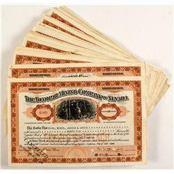 74 Tonopah Mining Company Stock Certificates
