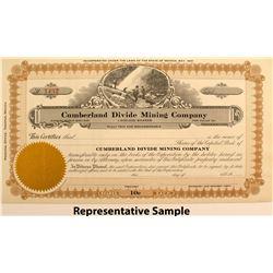 Cumberland Divide Mining Company Stock Certificates (67)