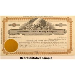 Cumberland Divide Mining Company Stock Certificates (67)