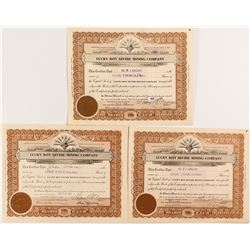 Lucky Boy Divide Mining Company Stock Certificates (3)