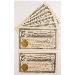 New Tonopah Divide Mining Stock Certificates (7)