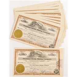 Thompson Divide Mining Company Stock Certificates (20+)