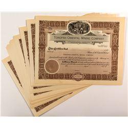 Tonopah Oriental Mining Co. Stock Certificates (16)