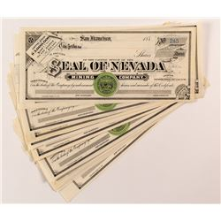 Seal of Nevada Mining Company Stock Certificates (20)