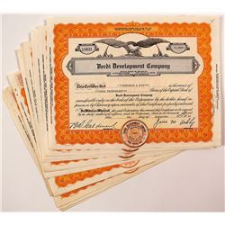 Verdi Development Company Stock Certificates