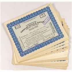 Chollar Gould & Savage Stock Certificates (Two Varities)
