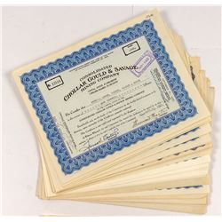 Chollar Gould & Savage Stock Certificates (Two Varities)