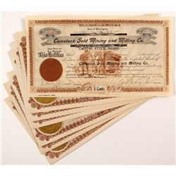 Comstock Gold Mining and Milling Co. Stock Certificate Plus 6 others