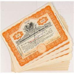 Comstock-Keystone Mining Stock Certificates (19)