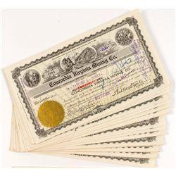 Concordia Virginia Mining Stock Certificates (24)