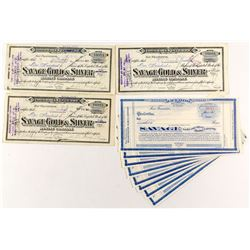 Savage Gold & Silver Mining Co. Stock Certificates (13)