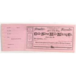 West Crown Point Gold and Silver Mill and Mining Stock Certificates (9)