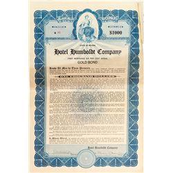Hotel Humboldt Company Gold Bond 1923
