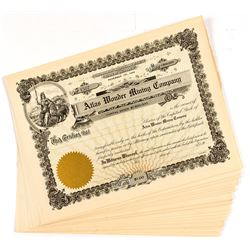 Atlas Wonder Mining Stock Certificates (20)