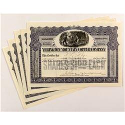 Yerington Mountain Copper Company Stock Certificates (5)