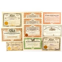 Mostly Nevada Mining Stock Certificates