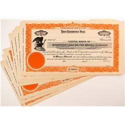 Sunnyside Lead-Silver Mining Company Stock Certificates (22)