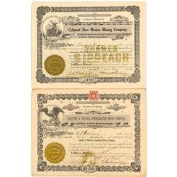 Two Calumet Mining Stock Certificates