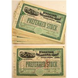 Choctaw Oklahoma and Gulf Railroad Company Stock Certificates (44)