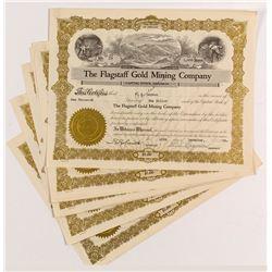 Flagstaff Gold Mining Stock Certificates (5)