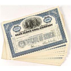 Glen Alden Coal Stock Certificates (36)