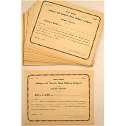 Ardmore and Llanerch Street Railway Co Interim Receipts (50)