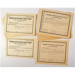 41 Philadelphia and West Chester Traction Company Stock Certificates