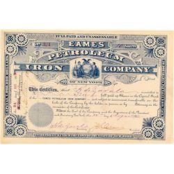 Eames Petroleum Iron Company Stock Certificate