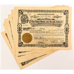 Union Mining and Milling Company Stock Certificates (7)