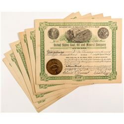 United States Coal, Oil and Mineral Company Stock Certificates