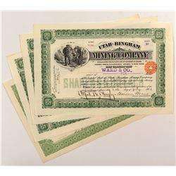 Utah-Bingham Mining Company Certificates (4)