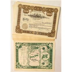 54 Homansville Mining Company Stock Certificates