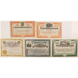 Utah Mining Certificates (5)