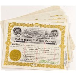 Cardiff Mining & Milling Stock Certificates (11)
