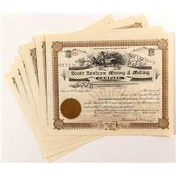 South Sunbeam Mining & Milling Stock Certificates (9)