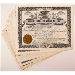 Bullion Monarch Mining Co., Inc. Stock Certificates (13)