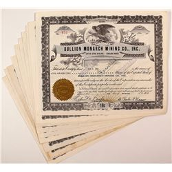 Bullion Monarch Mining Co., Inc. Stock Certificates (13)