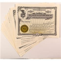 Great Basin Gold and Silver Mining Company, Inc. Stock Certificates (14)