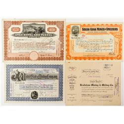 Utah Mining Stock Certificates from Multiple Companies