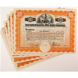 Virginia Coal and Iron Company Certificates (6)