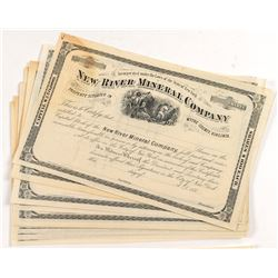 New River Mineral Stock Certificates (12)