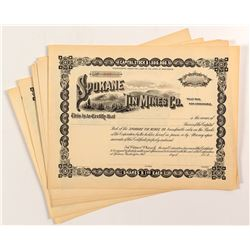 Spokane Tin Mines Co. Stock Certificates (11)