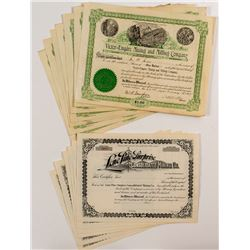 14 Washington Mining Stock Certificates