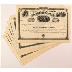 Searight Cattle Company Stock Certificates (8)