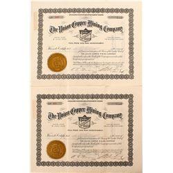 Union Copper Mining Company Stock Pair