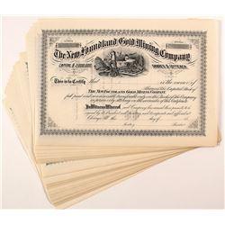 New Foundland Gold Mining Company Stock Certificates (34)
