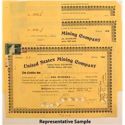 United States Mining Company Stock Certificates (22)
