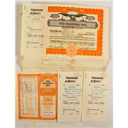 63 Ute Uranium Stock Certificates