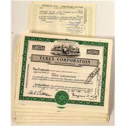 80 Terex Corporation Stock Certificates